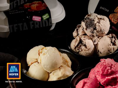 Divine gourmet ice creams exclusively at Hofer